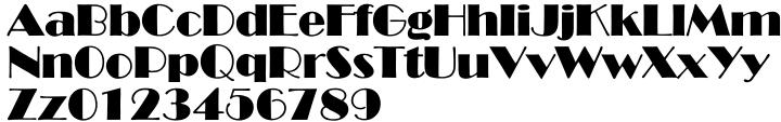 TS Broadway™ Font Sample