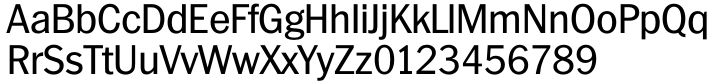 TS Franklin Gothic™ Font Sample