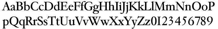 TS Garamond™ Font Sample