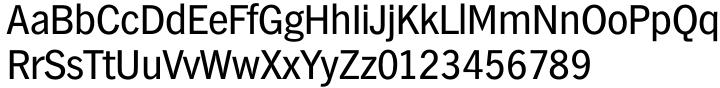 TS Hamburg™ Font Sample
