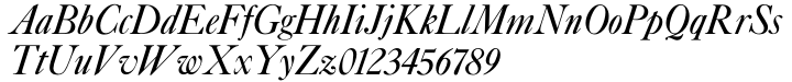 Caslon Italic and Swashes Font Sample