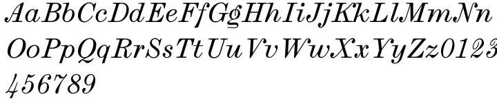 LTC Law Italic™ Font Sample