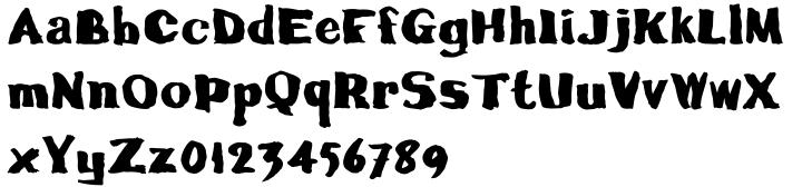 CalamityJoe Font Sample