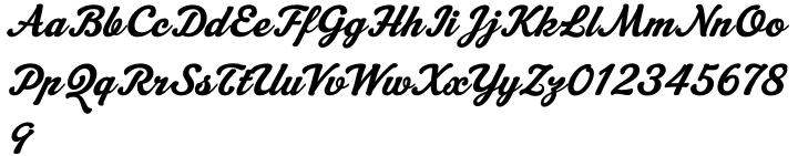 Machiarge Font Sample