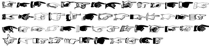 Archive Hands Font Sample