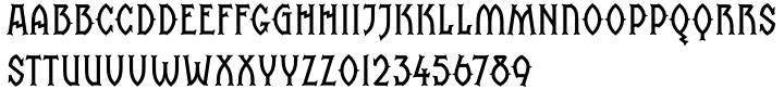 Saintbride Font Sample