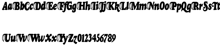 Goudy Fancy Font Sample