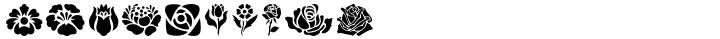 Folk Art Flowers Font Sample