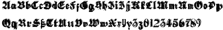 Gothic Handtooled Bastarda Font Sample