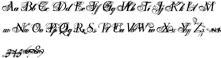 Ibarra Flourished Font Sample