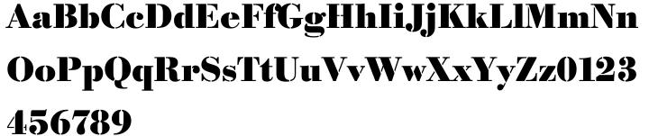 Bodoni Stencil™ Font Sample