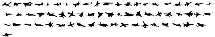 Wingbat Font Sample