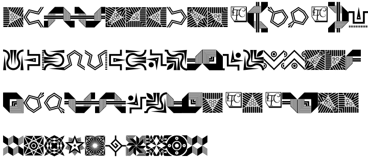 LTC Keystone Ornaments Font Sample