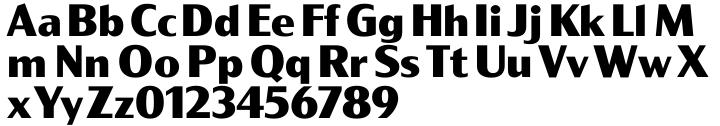 PC Gothic™ Font Sample