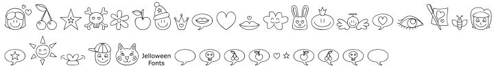 Jellodings™ Font Sample