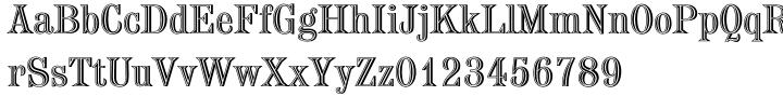 Chisel Font Sample