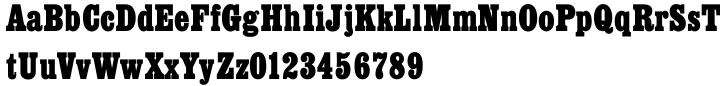 Egyptienne Font Sample