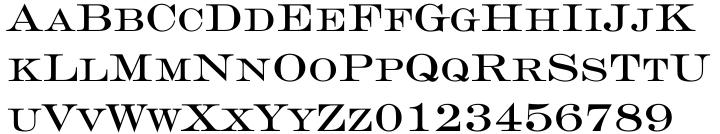 Engravers™ Font Sample