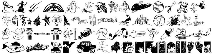 Eclectics™ Font Sample
