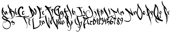 Sabe Ghetto Gothic™ Font Sample