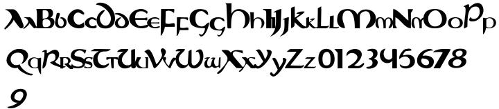 Evangeliaire Uncial Font Sample