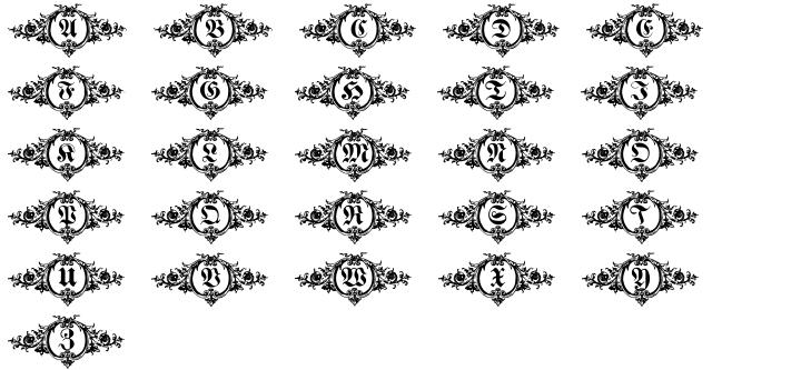 Hostetler Fette Ultfraktur Ornamental Font Sample