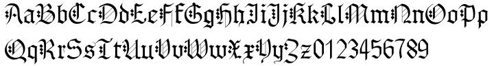AlbertBetenbuch™ Font Sample