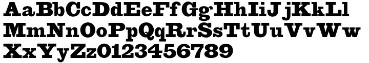 Leadville™ Font Sample