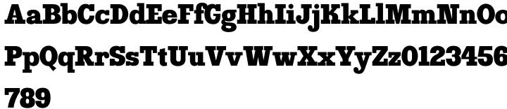 Clarity AOE™ Font Sample