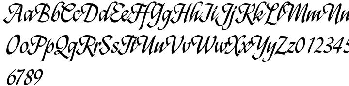 Featherpen Font Sample