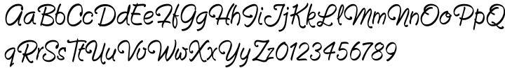 Fountain Pen Font Sample