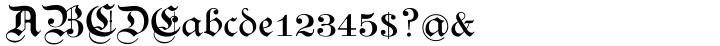Breite Kanzlei™ Font Sample