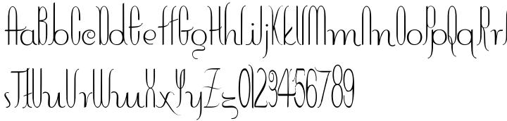 Contouration Font Sample