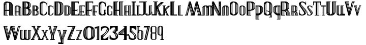 Deco Experiment 3 Font Sample