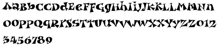 Garash™ Font Sample
