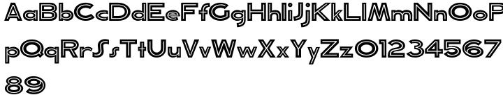 Toucan Tango JNL Font Sample