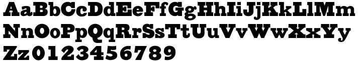 Austin Antique Font Sample