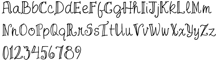 FG April Font Sample