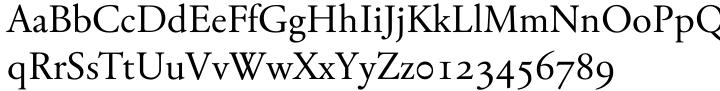 TYMA Garamont™ Font Sample