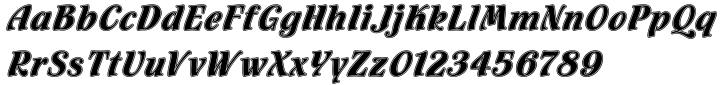 Flamenco Inline™ Font Sample