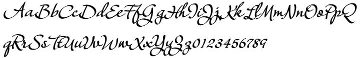 Janagrace Font Sample