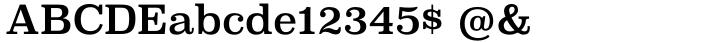 Superclarendon Font Sample