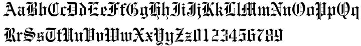 Engravers' Old English™ Font Sample