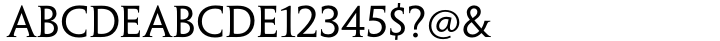 Penumbra Serif® Font Sample
