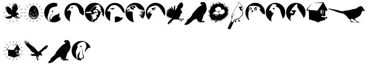 Altemus Birds Font Sample