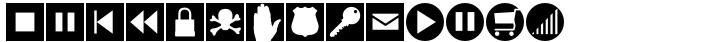 Altemus Web Icons Font Sample