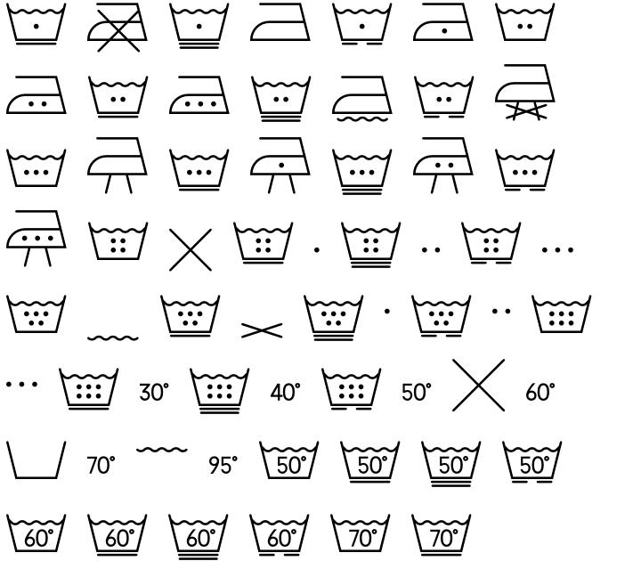 Washing Machine Font Sample