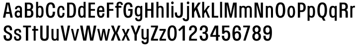 Threepoints East™ Font Sample