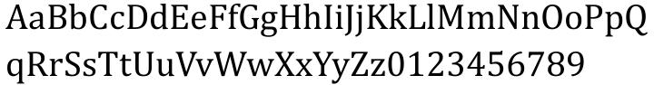 Cambria® Font Sample