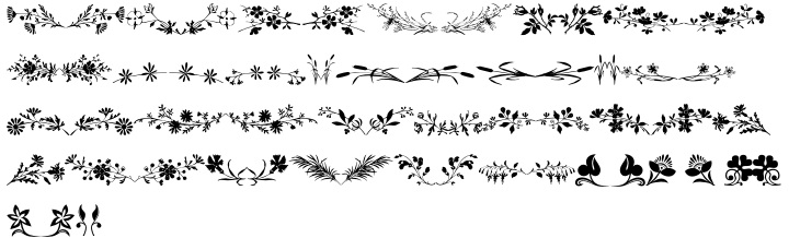 Floralissimo™ Font Sample